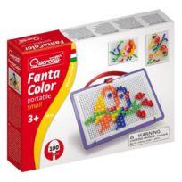 Quercetti - Loisir Créatif Fantacolor Portable 100 Pions Carrés