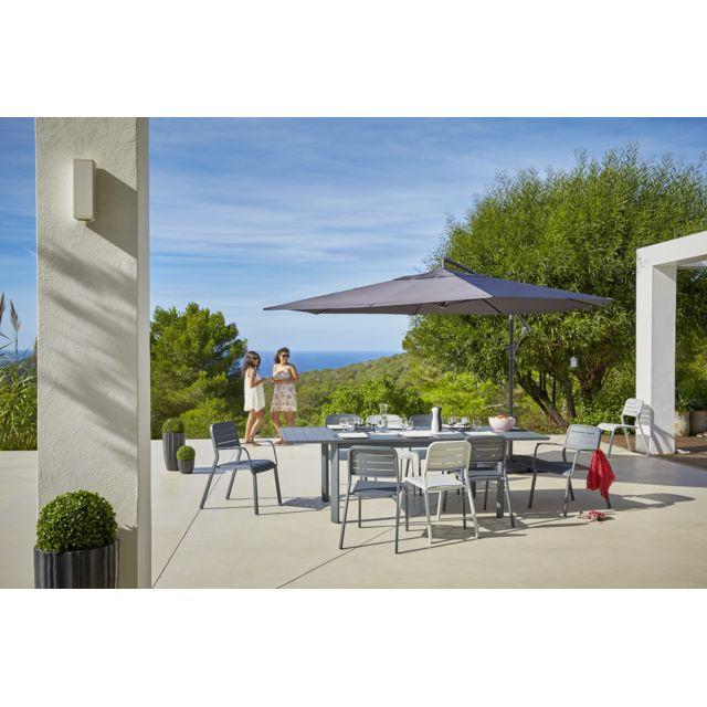 CARREFOUR - Ensemble 1 table extensible + 8 chaises de jardin URBAN ...