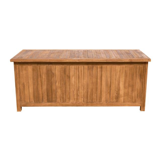 cemonjardin coffre de rangement en teck baya pas cher achat vente coffre de jardin. Black Bedroom Furniture Sets. Home Design Ideas