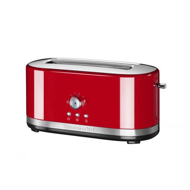 kitchenaid grille pain 2 fentes longues 1800w rouge 5kmt4116eer pas cher achat vente. Black Bedroom Furniture Sets. Home Design Ideas