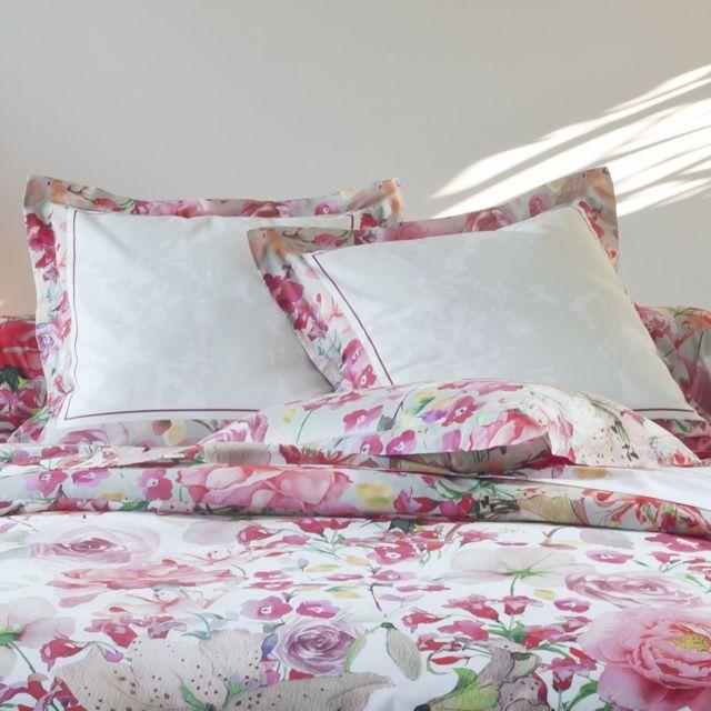tradition des vosges parure drap juliette rose pas cher achat vente draps plats. Black Bedroom Furniture Sets. Home Design Ideas
