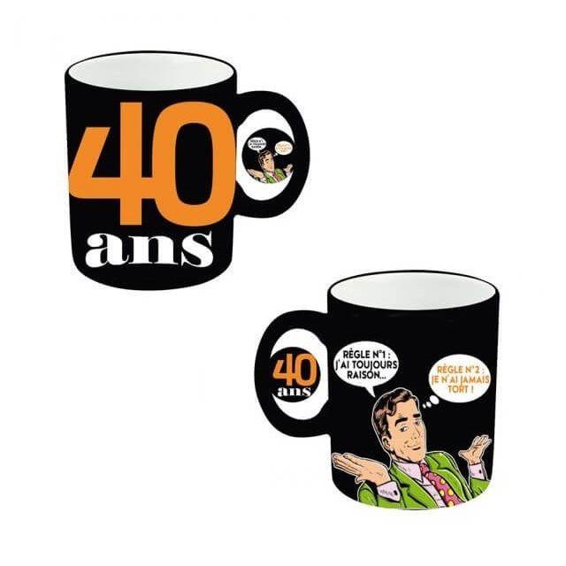 Surprisez Vous Cadeau Mug Anniversaire Homme 40ans X1 Ref