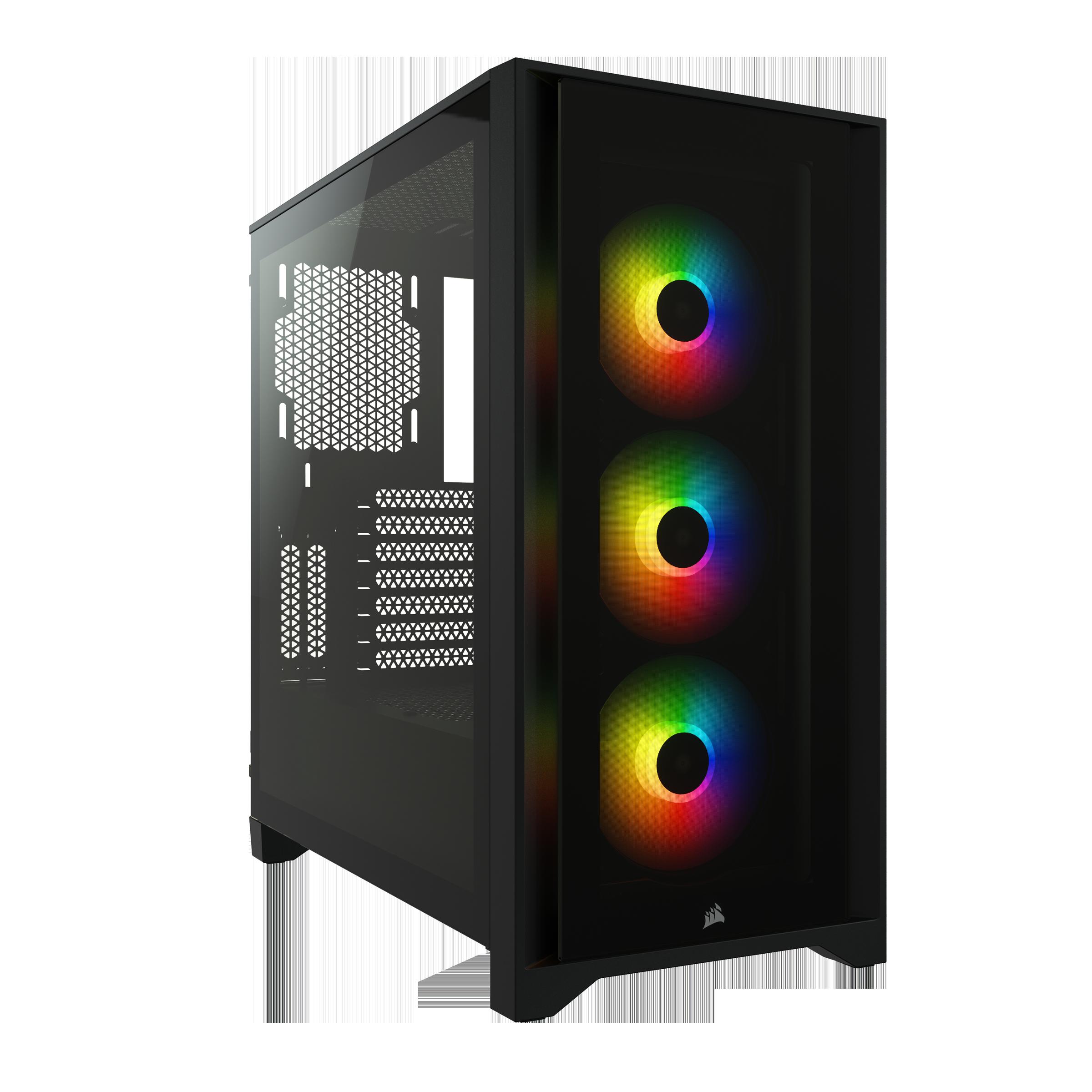 Boitier PC iCUE 4000X RGB avec fenêtre Corsair Noir