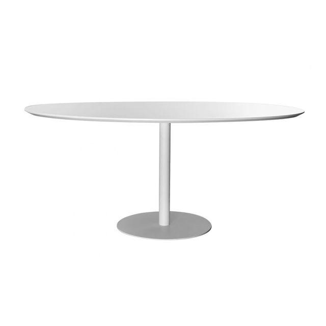 MILIBOO Table à manger design blanche HALIA