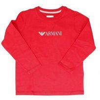Armanijunior - T-shirt manches longues rouge