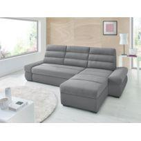 Sofa Story - Canapé d'angle convertible Bimbo Gris anthracite / Gris