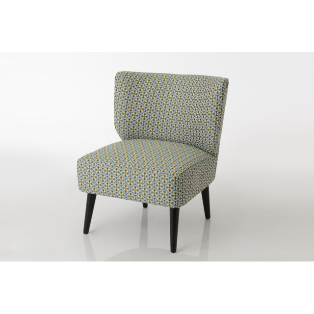 HELLIN Fauteuil crapaud jacquard HELENA