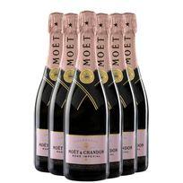 Champagne MoËT & Chandon - Rose Imperial avec etui Lot de 6 Bouteilles