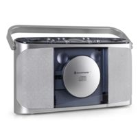 Soundmaster - Rcd 1400 Boombox radio lecteur Cd argent
