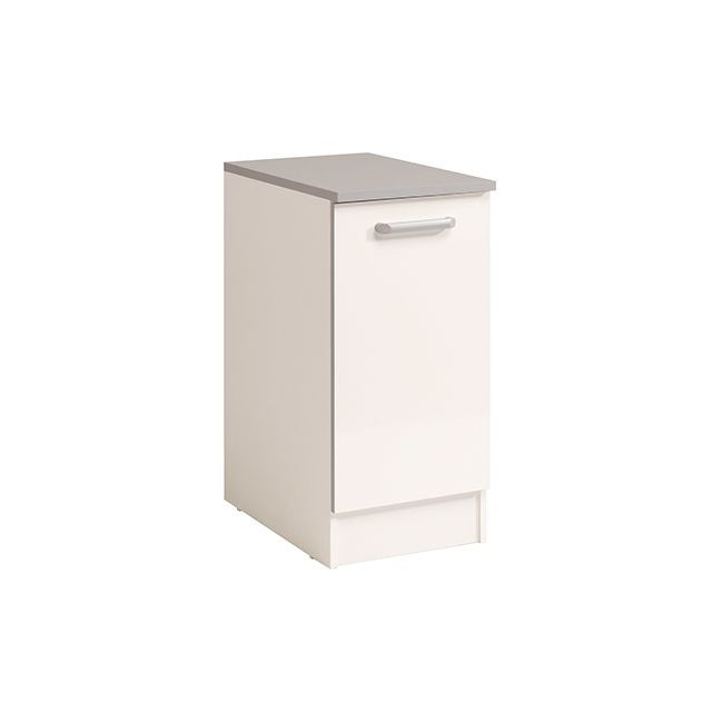 Meuble bas 1 porte L40xH86xP60cm - blanc brillant