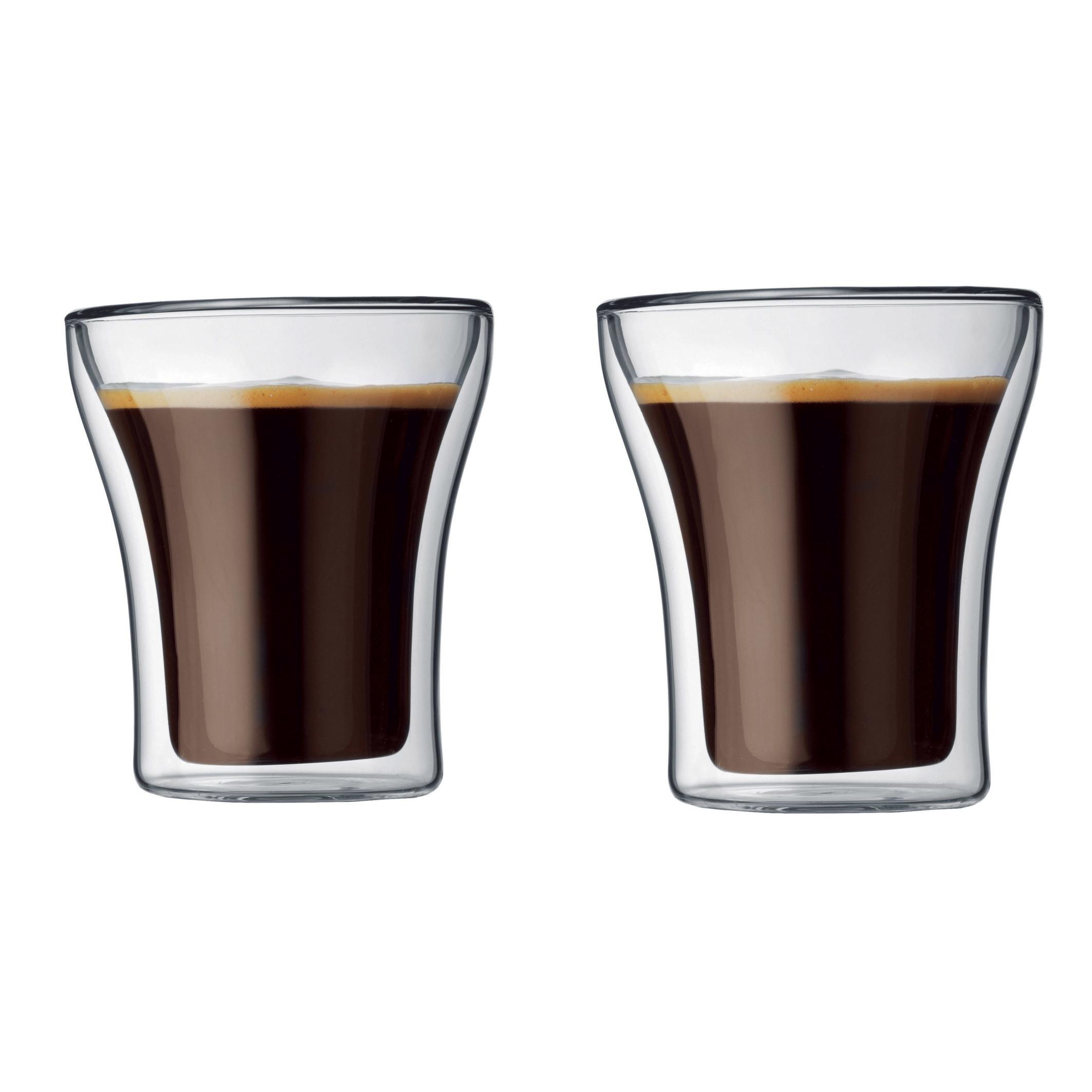 ASSAM Set 2 verres, double paroi, 0.2 l