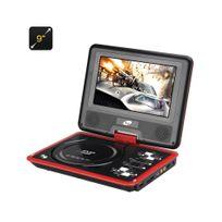 Auto-hightech - Lecteur dvd portable 9 pouce ecran pivotant 270 degrée fente pour carte Sd