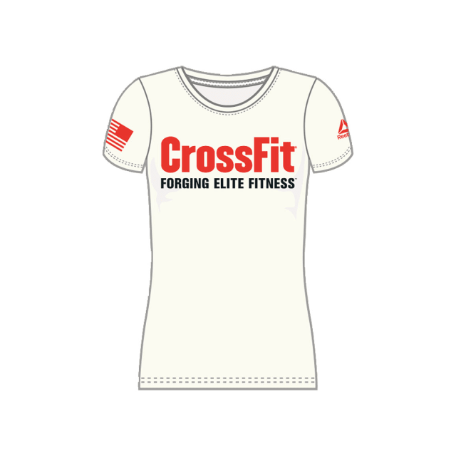 buy popular 02b87 38555 Reebok - T-shirt Reebok CrossFit Forging Elite Fitness manches courtes  blanc femme