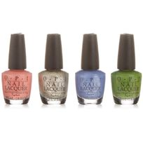 Opi - Nail Lacquer - New Orleans Collection - 4pc Minis - 3.75ml / 0.125 oz Each