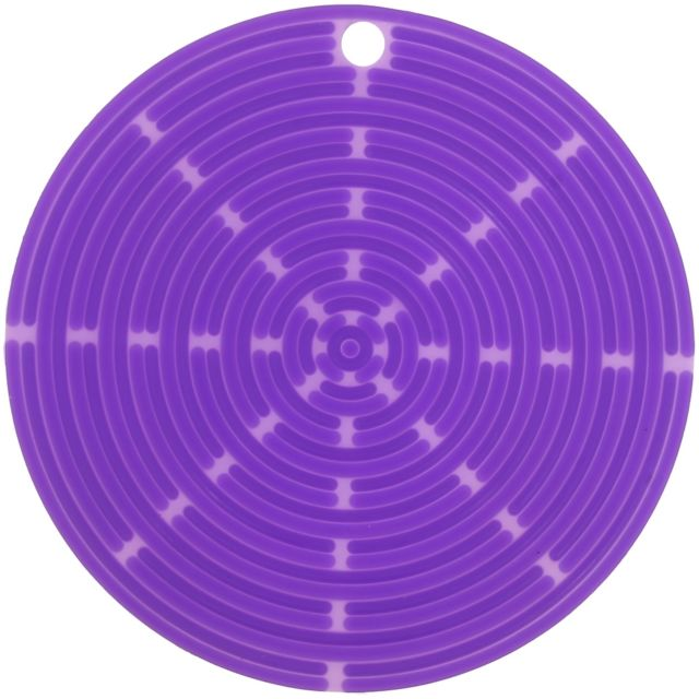 Promobo Dessous Repose plat silicone rond Cuisine city Violet