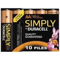 Duracell - blister de 10 piles 1.5v simply lr06 alcaline