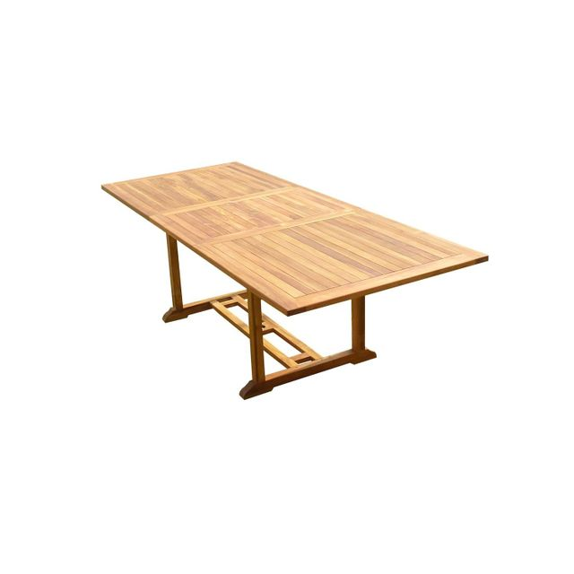 C&L Jardin Table Aedan Rectangle 180-240x100xH75 Teck Huilé