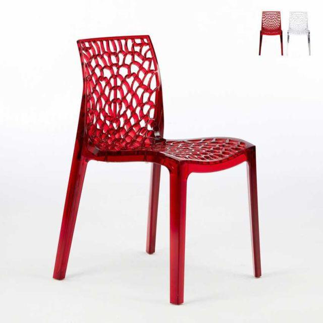 Grand Soleil Chaise transparente salle à manger Cafè
