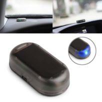 Wewoo - Gyrophare voiture puissance solaire simulé alarme factice avertissement anti-vol Led lumière de sécurité clignotant fausse lampe lumière bleue