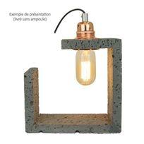 Millumine - Lampe de salon béton et cuivre Granita