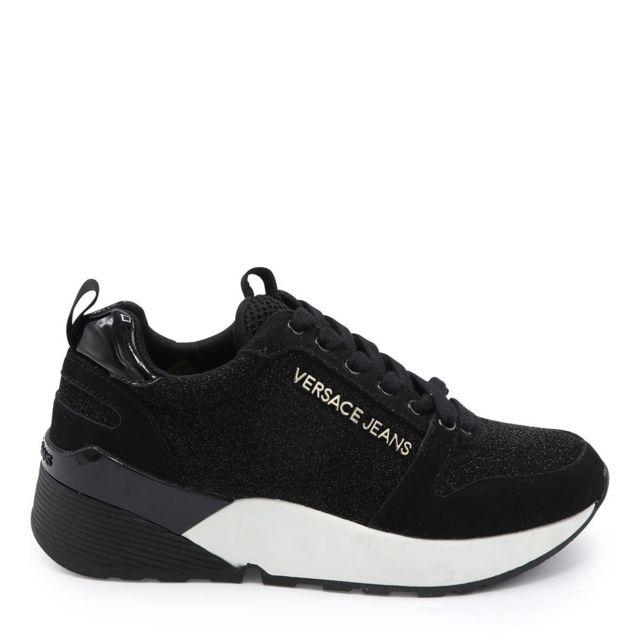 Versace - Basket High Running Noir - pas cher Achat   Vente Baskets femme -  RueDuCommerce 8251a8b1c78