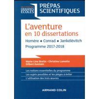 Armand Colin - thème français-philosophie en 30 dissertations ; prépas scientifiques édition 2017/2018