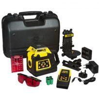 STANLEY - Niveau laser rotatif RLHVPW + Cible magnétique + batterie rechargeable + chargeur + télécommande - 1-77-427