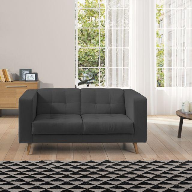 relaxima canap scandinave 2 places kubik achat vente canap s pas chers rueducommerce. Black Bedroom Furniture Sets. Home Design Ideas
