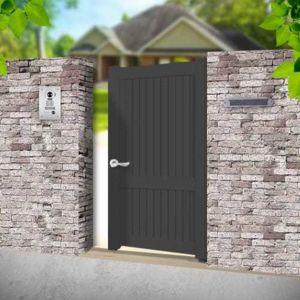 emalu portillon alu poussant universel gris anthracite 1x1 60m melville pas cher achat. Black Bedroom Furniture Sets. Home Design Ideas