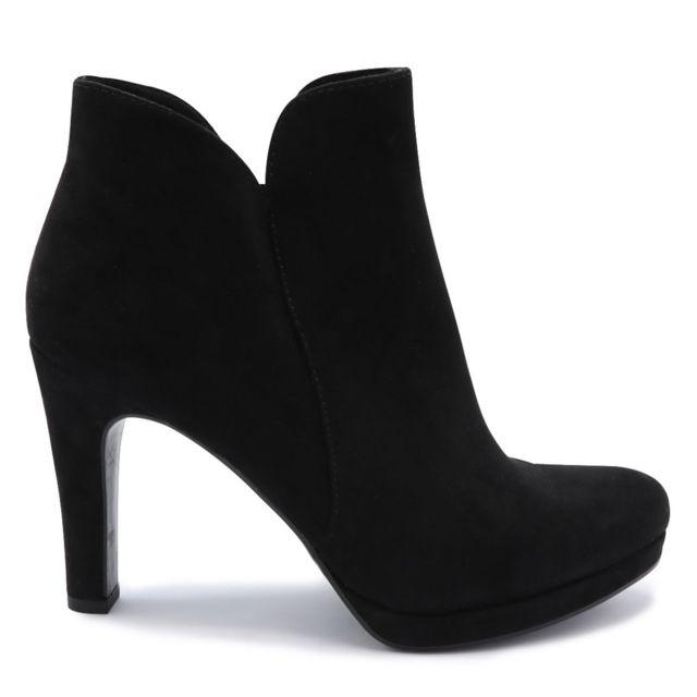Tamaris - Boots Talon Haut Noir - pas cher Achat   Vente Boots femme -  RueDuCommerce 41639207ece3
