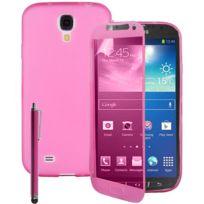 Vcomp - Housse Etui Coque silicone gel Portefeuille Livre rabat pour Samsung Galaxy S4 Active I9295/ I537 Lte + stylet - Rose