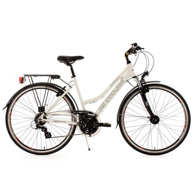 ks cycling vtc femme 28 39 39 norfolk fl blanc tc 53 cm. Black Bedroom Furniture Sets. Home Design Ideas