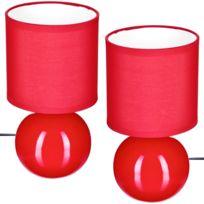 Rouge Boule Ensemble Design Lampes Set 2 Duo thxrsdBQC