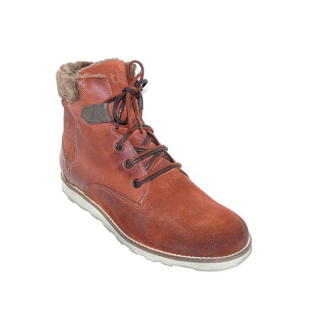 Tbs , Bottillons femme chaussures femme hiver confort Cuir marron fourré  pointure 38 , pas cher Achat / Vente Bottes femme , RueDuCommerce