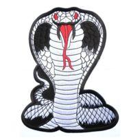 Universel - gros patch serpenf cobra gris 24.5 cm voiture americaine ecusson dos veste blouson