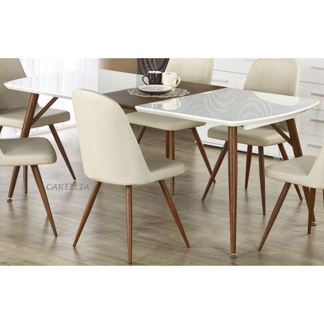 Carellia Ensemble Table A Manger Extensible Richard + 4 chaises