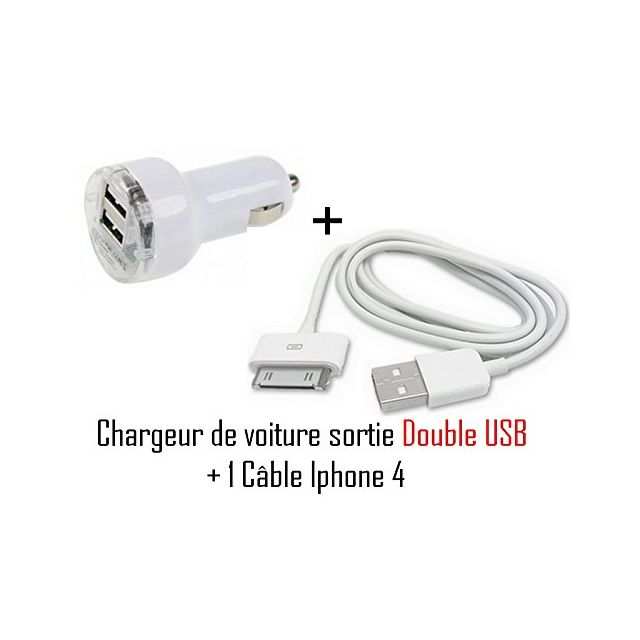 Chargeur voiture Allume Cigare double usb ipad iphone tout