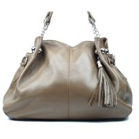 Oh My Bag - Sac à Main Cuir femme - Modèle Madison taupe foncé
