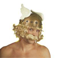 Marque Generique - Casque de gaulois avec cheveux adulte