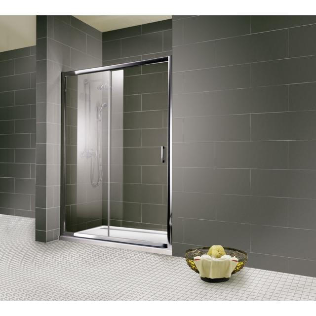 schulte portes de douche coulissantes 140 x 200 cm verre transparent 2 parties imp riale. Black Bedroom Furniture Sets. Home Design Ideas
