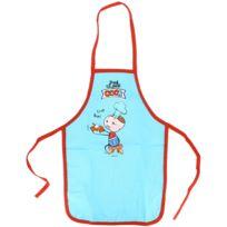 Promobo - Tablier de cuisine enfant Humour Cuistot Trop Bon 3 à 8 ans