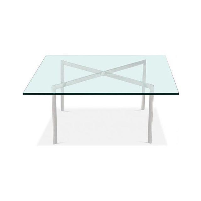 Privatefloor Table basse Barcelona - 12 mm - Inspiration Ludwig Mies van der Rohe