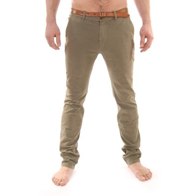8a42162b3a8fc Scotch   Soda - Chino Scotch and Soda Stuart pantalon vert slim fit 1304-64