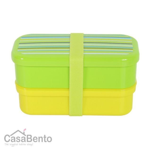 Bento Box Pas Cher : casabento bo te bento petit stripes vert pas cher achat vente lunch box rueducommerce ~ Nature-et-papiers.com Idées de Décoration