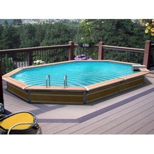 water clip vigipiscine kit piscine bois summum octogonale allong e 5 88m x 4 28m x 1 29m. Black Bedroom Furniture Sets. Home Design Ideas