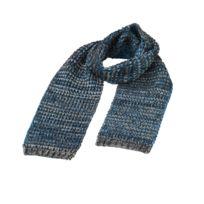 af76a1016106 Myrtle Beach - Longue écharpe tricotée - Mb7972- bleu marine chiné