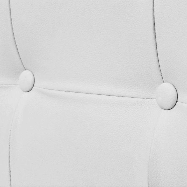 Icaverne - Canapés gamme Sofa à 2 places avec accoudoirs Cuir artificiel et acier Blanc