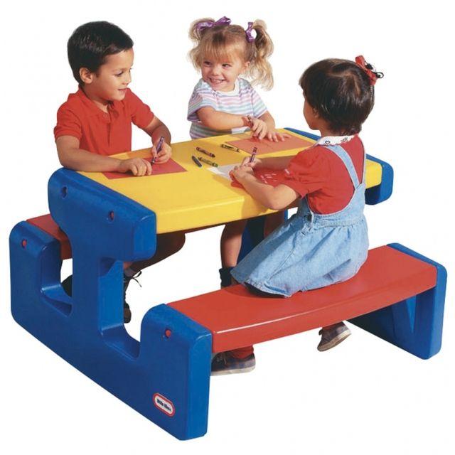 Casasmart Table de pique-nique pour enfants 6 places