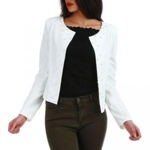 Veste courte blanche pas cher
