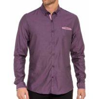 Cent's - Chemise rose à col boutonné
